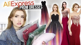 TRYING ON ALIEXPRESS PROM DRESSES!! *Huge Success* & Giveaway