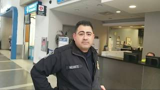 Federal offices call the us customs officer on tony vera to stop recording in public at lax