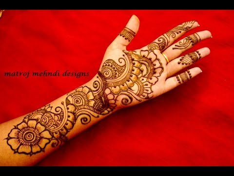 Easy Simple Floral Mehndi Henna Designs For Hands Matroj Mehndi Designs