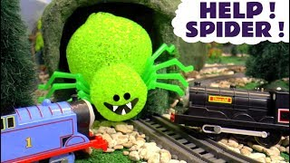 Thomas and Friends Spider Surprise - Twin Toy Trains Trackmaster Story Episode for kids TT4U