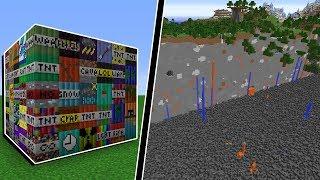 Minecraft: TESTANDO AS 56 NOVAS TNTS DO MINECRAFT! A MAIOR EXPLOSÃO QUE EU JÁ VI!!!