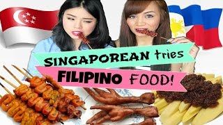 Singaporean Tries Filipino Street Food! (Isaw, Adidas, Bagoong)