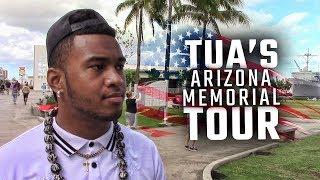 Join Tua Tagovailoa and his Alabama teammates as they tour the Arizona Memorial at Pearl Harbor