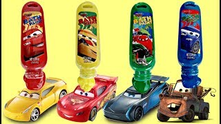 Disney CARS 3 Bath Paint, Learn Colors Mix Change: Lightning Mcqueen, Cruz Jackson Blaze Toys TUYC