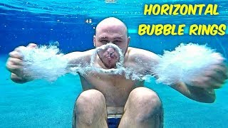 How To Make Horizontal Bubble Rings Underwater?