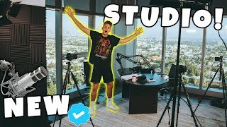 My NEW PENTHOUSE Filming Studio TOUR! *EXCLUSIVE LOOK*
