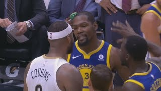 Kevin Durant, DeMarcus Cousins Ejected! Curry Injury Warriors vs Pelicans 2017-18 Season