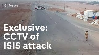 Exclusive: CCTV of Isis attack on Libya checkpoint