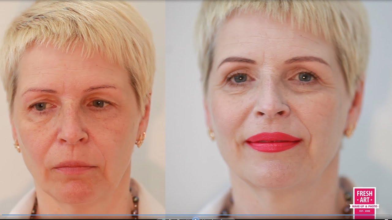 Вечерний макияж для пожилой женщины