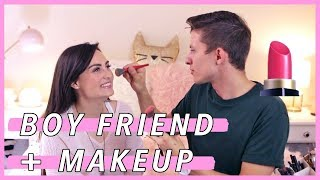 MY BOY FRIEND DOES MY MAKEUP!