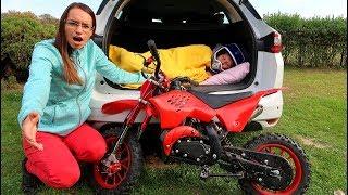 Funny Baby Ride on New Dirt Cross Bike Mini Power Wheel Pocket Bike Hide and Seek in Trunk Mommy