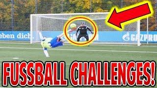 FUSSBALL CHALLENGE vs. SCHALKE PROFIS! ⚽⛔️⚽ FUßBALL CHALLENGES (DEUTSCH) - PROOWNEZ & FIFAGAMING!