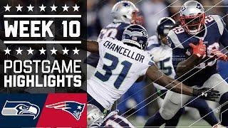 Seahawks vs. Patriots | NFL Week 10 Game Highlights