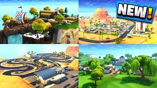 ALL *NEW* LOCATIONS IN FORTNITE SEASON 5 MAP! Desert Biome, Lazy Links, Paradise Palms