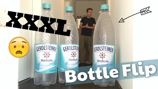 krassester BOTTLE FLIP mit riesiger XXL Flasche 😱 | Julienco