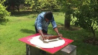 Cooking a Big Pizza Without an Oven - Cooking A Biggest Chicken Pizza in My Village
