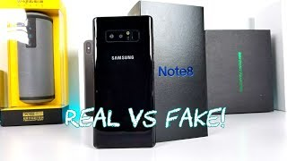 Goophone Note 8 VS Real Galaxy Note 8 - Unboxing & Comparison!