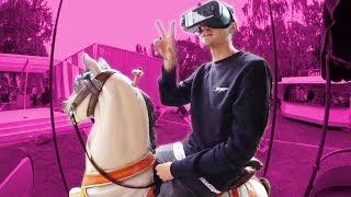 Meine Fahrt auf dem VR Karussell!