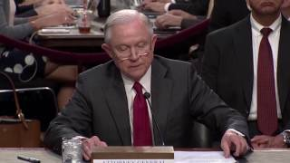 Jeff Sessions begins testimony on Comey firing, meeting with Russian ambassador
