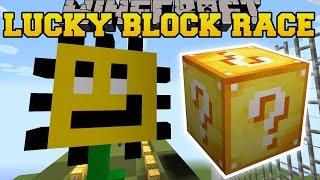 Minecraft: PLANTS VS ZOMBIES LUCKY BLOCK RACE - Lucky Block Mod - Modded Mini-Game