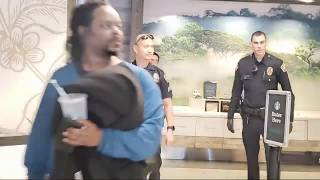 Starbucks calls laxpd would not give a homeless man water Cops  Give man water