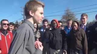 White Kid Kills it in High School Rap Battle (Ashtin Larold)