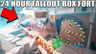 2 STORY FALLOUT BOX FORT!! 📦 24 Hour Challenge!