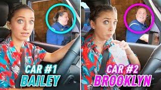 Identical Twins 2-Car DRIVE THRU Challenge