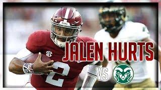 Jalen Hurts Highlights vs Colorado State // 12/17 351 Total Yards, 3 TDs // 9.16.17