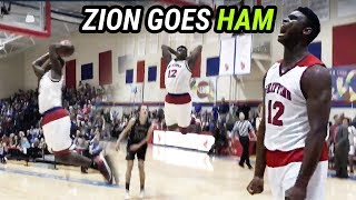 Zion Williamson Is READY FOR COLLEGE! Brings The ANGER In Last Game Before COMMITTING!