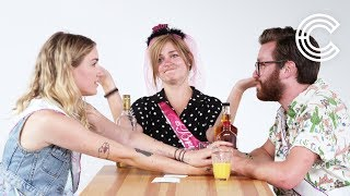 Truth or Drink Bridesmaids - Brittany, Courtney & Timothy