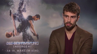 INSURGENT: Theo James says it was awkward filming with Shailene Woodley