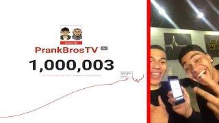 1.000.000 ABONNENTEN LIVE REAKTION / REALTALK !!! | PrankBrosTV