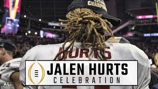 Follow Jalen Hurts on the field during Alabama