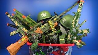 Box of Toys ! Military Guns Toys & equipment - Toys for Kids