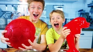 TINY vs. GIANT - REAL FOOD vs. GUMMY FOOD 🐬 TipTapTube ⚽️