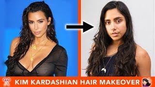 I Gave Myself A Kim Kardashian Hair Makeover 💇