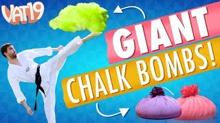 GIANT Chalk Bomb Battle! [feat. Dude Decent]