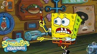 The Wet Painters 🎨 in 5 Minutes | SpongeBob