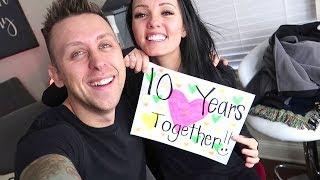 HUGE Happy Anniversary!! 10 YEARS TOGETHER