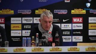 Die Pressekonferenz nach der Partie VfL Bochum 1848 - Karlsruher SC
