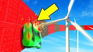 WALLRIDE WINDMILL DODGE CHALLENGE! (GTA 5 Funny Moments)