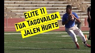 WATCH: Tua Tagovailoa and Jalen Hurts throw at the Elite 11