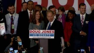 WATCH: AL Democratic Senate candidate Doug Jones speaks on election night