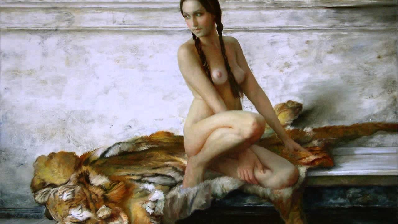 Художники рисуют голых девушек 22 фотография