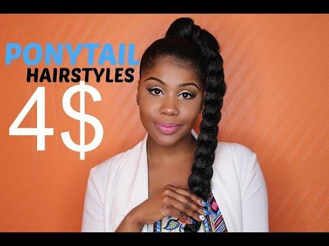 jumbo braid goddess ponytail natural hair
