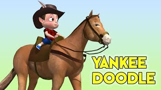 Yankee Doodle nursery rhyme for kids | 3d Animation l Yankee Doodle 3D song with lyrics