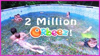 😂SWIMMING IN A FAMILY SIZE POOL OF ORBEEZ!!!🔮