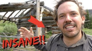 STAYED IN ABANDONED CABIN FOR A WEEK!!