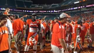 VIDEO: Clemson players, fans sing alma mater after win